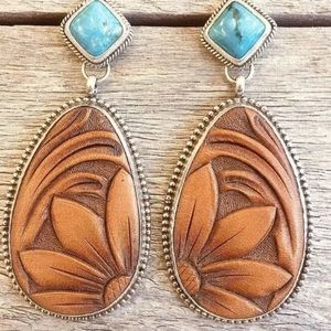Southwestern turquoise resin earrings